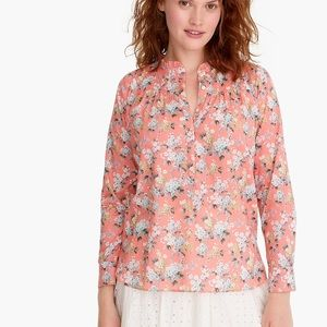JCREW Classic Ruffle Popover Liberty Floral NWT 12
